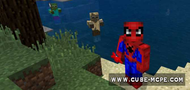 Мод Spiderman's Webshooters 1.6/1.4/1.2