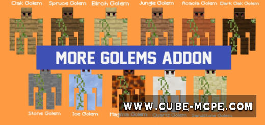 Мод More Golems 1.9+